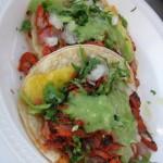 Al pastor tacos- Los Guachos, part of our Taco Truck Food Tour, Columbus Ohio