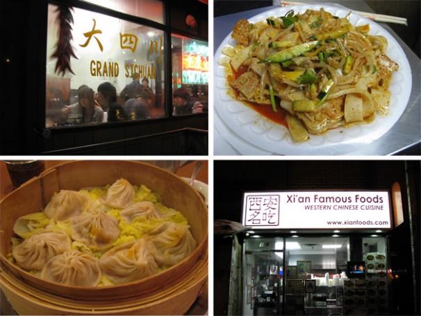 soup dumplings, xian famous foods, hand pulled noodles