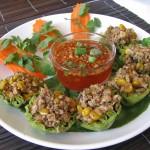 Nida's thai on high, krathong thong, thai appetizer