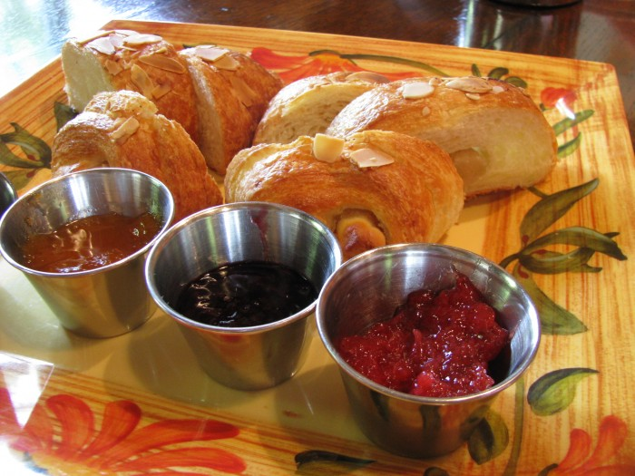 croissant and homemade jam