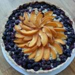 blueberry apricot almond tart at Eleni christina