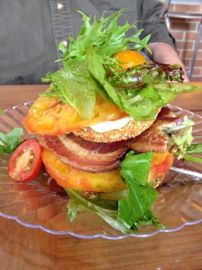 fried green tomatoes with heirloom salad